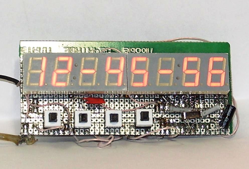 Схема. Часы с термометром и